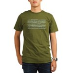 Travel Tag Cloud Organic Men's T-Shirt (dark)