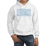 Travel Tag Cloud Hooded Sweatshirt