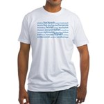 Travel Tag Cloud Fitted T-Shirt