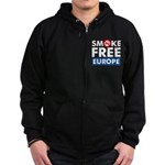 Smoke Free Europe Zip Hoodie (dark)