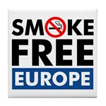Smoke Free Europe Tile Coaster