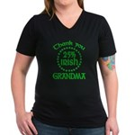 25% Irish - Grandma Women's V-Neck Dark T-Shirt