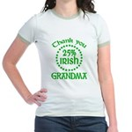 25% Irish - Thank You Grandma Jr. Ringer T-Shirt