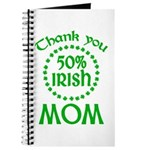 50% Irish - Thank You Mom Journal