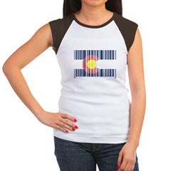 Barcode Colorado Flag Women's Cap Sleeve T-Shirt