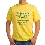 Happiest Places on Earth Yellow T-Shirt