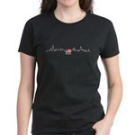 American Flag Chicago Skyline Women's Dark T-Shirt