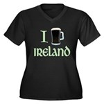 I Love Ireland (beer) Women's Plus Size V-Neck Dark T-Shirt