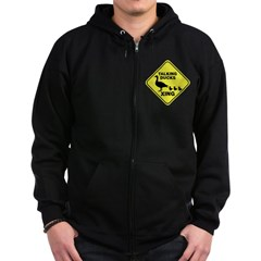 Talking Ducks Crossing Zip Hoodie (dark)