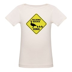 Talking Ducks Crossing Organic Baby T-Shirt