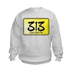 313 License Plate Kids Sweatshirt