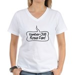Number One Rosa Fan Women's V-Neck T-Shirt
