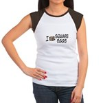 I Love Square Eggs Women's Cap Sleeve T-Shirt