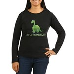 Stuffosaurus Logo Women's Long Sleeve Dark T-Shirt