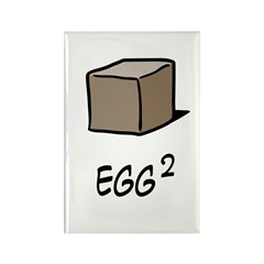 Square Egg Rectangle Magnet