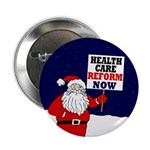 Santa Claus for Health Care Reform Button
