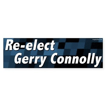 Re-Elect Gerry Connolly (Pro-Connolly Bumper Sticker for Progressive Virginia)