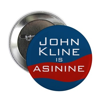 John Kline is Asinine (Anti-Kline congressional campaign button)