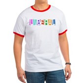 Colorful Retro Liberal Ringer T