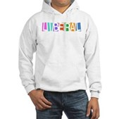 Colorful Retro Liberal Hooded Sweatshirt