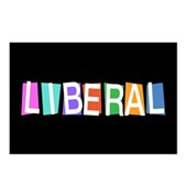 Colorful Retro Liberal Postcards (Package of 8)