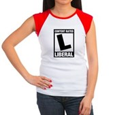 Content Rated Liberal Women's Cap Sleeve T-Shirt
