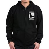 Content Rated Liberal Zip Hoodie (dark)