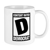 Content Rated Democrat Mug