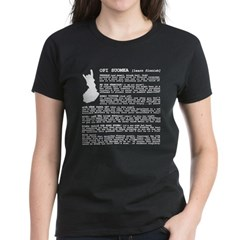 Women's Dark T-Shirt Learn Finnish from the Metal From Finland Shop