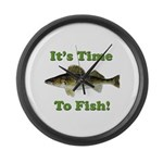 "Genuine Walleye ""It's Time to Fish"" Large Wall Clo"