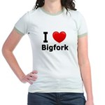 I Love Bigfork Jr. Ringer T-Shirt