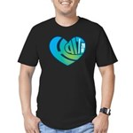 Haiti Heart Men's Fitted T-Shirt (dark)