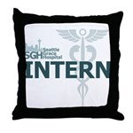 Seattle Grace Intern Throw Pillow