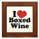 I Heart Boxed Wine Framed Tile