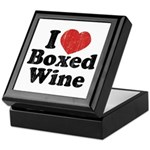 I Heart Boxed Wine Keepsake Box