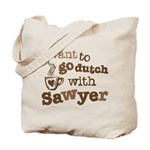 I want to go dutch w/Sawyer Tote Bag