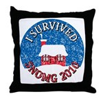 I Survived SNOMG 2010 Throw Pillow