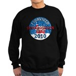 I Survived Snomaggedon Blizzard of 2010 Sweatshirt (dark)
