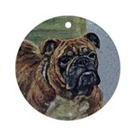Brindle Bulldog Ornament