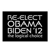 Logical Obama 2012 Postcards (Package of 8)