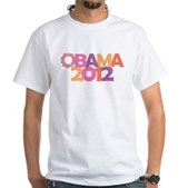 Obama Flowers 2012 White T-Shirt