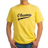 Obama 2012 Swish Yellow T-Shirt
