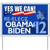 Re-Elect Obama-Biden Yard Sign