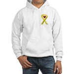 Yellow Ribbon Love Miss Airman Hooded Sweatshirt