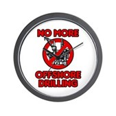 No More Offshore Drilling Wall Clock