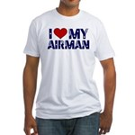 I love (heart) my Airman Fitted T-Shirt