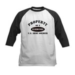 Property of a HARDCORE US Army Soldier Kids Baseba