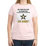 Army - Son-in-law Serving Women's Pink T-Shirt