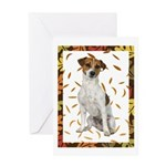Autumn Jack Russell Terrier Greeting Cards