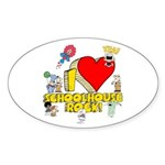 I Heart Schoolhouse Rock! Sticker (Oval 10 pk)